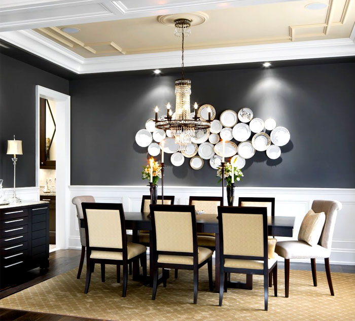 Catchy And Unique Wall Decorating Ideas For The Dining Room